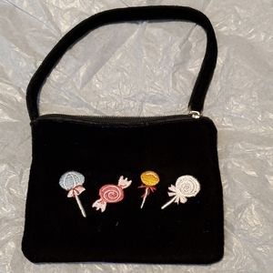Velour lolly pop purse-small